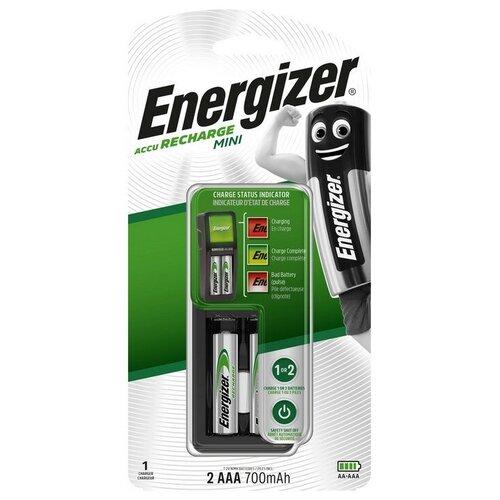 Фото - Зарядное устройство Energizer Mini: 1/2 слота AA/AAA, + 2 акк. AAA 700mAh батарейка energizer max plus aa 4 шт