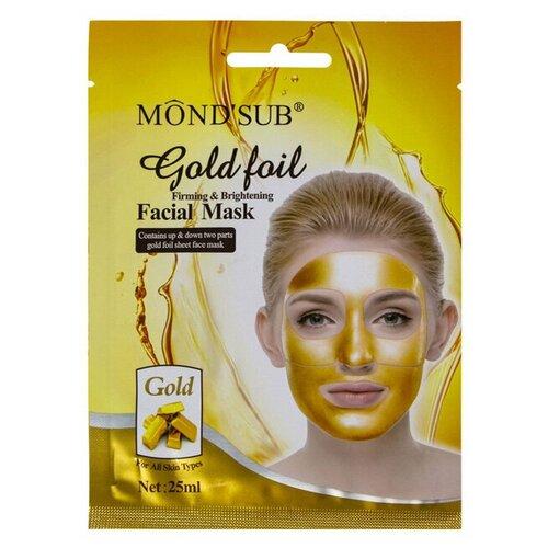 Купить Mondsub Тканевая маска Gold Foil Firming & Brightening Facial Mask, 25 мл