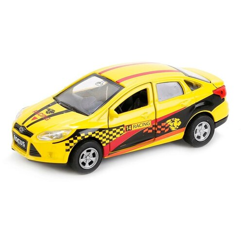Фото - Легковой автомобиль ТЕХНОПАРК Ford Focus Спорт (SB-16-45-S-WB), 12 см, желтый автобус технопарк рейсовый sb 16 88 blc 7 5 см желтый