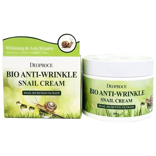 Deoproce Bio Anti-Wrinkle Snail Cream Крем против морщин с экстрактом улитки, 100 г крем с фильтратом слизи улитки deoproce snail recovery cream