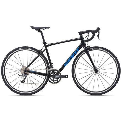 Фото - Шоссейный велосипед Giant Contend 2 (2021) черный 55.5 см (требует финальной сборки) велосипед giant escape 3 disc 2021 металик черный m