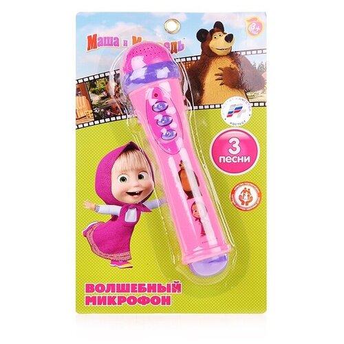Купить Умка микрофон Маша и Медведь B1082812-R2 розовый, Детские музыкальные инструменты