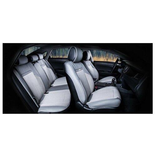 Комплект накидок на автомобильные сиденья CarFashion ARSENAL PLUS серый/серый