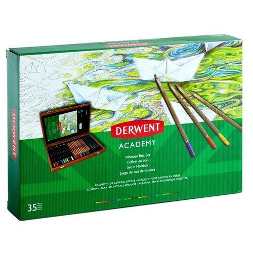 Купить Набор карандашей и акссес. Derwent Academy, 34 предм., дерев.уп., 2300147, Цветные карандаши