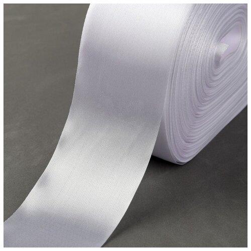 Купить Лента атласная 50мм*100±5м холодный белый №1 2373084, Сима-ленд, Декоративные элементы