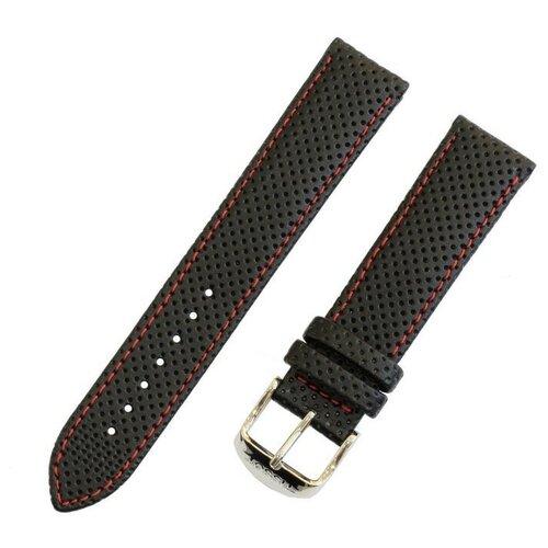 Черный кожаный ремешок из кожи теленка TISSOT PR 100, T-CLASSIC T600031360 - длина L (120 / 75 мм), ширина (19 мм / 18 мм) - T049.407, T049407, T049.410, T049410, T049.417, T049417, T065.430, T065430 для часов TISSOT 0 pr на 100