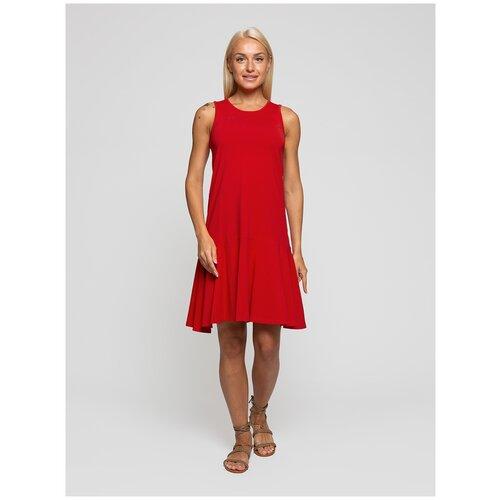 Женское легкое платье сарафан, Lunarable красное, размер 52