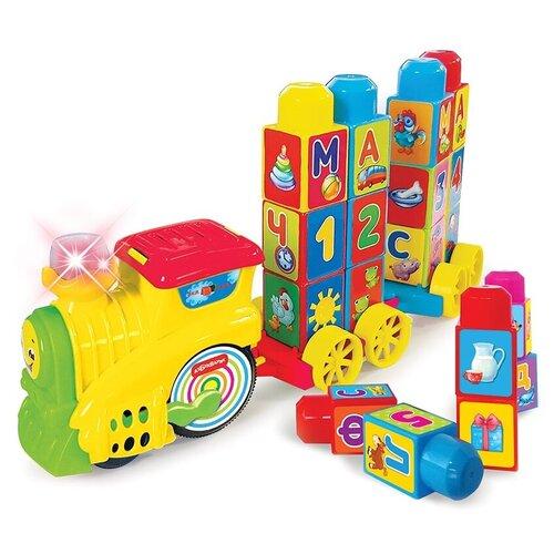 развивающая игрушка азбукварик музыкальный домик ферма зеленый Развивающая игрушка Азбукварик Музыкальный поезд Буковка, желтый