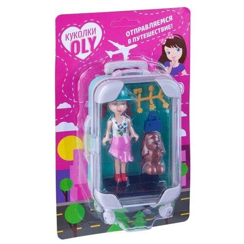 Фото - Игровой набор Bondibon Куколка OLY с домашним питомцем, аксессуары (ВВ4537) набор игровой bondibon кукольный уголок гостиная и куколка oly
