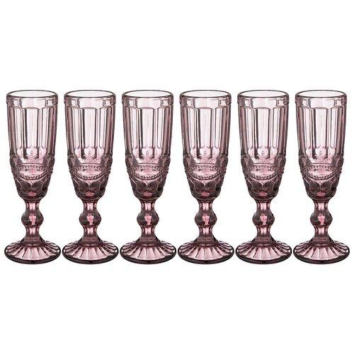 Набор бокалов для шампанского Lefard серпентина из 6шт. серия muza color 150 мл / в=20 см (781-102)