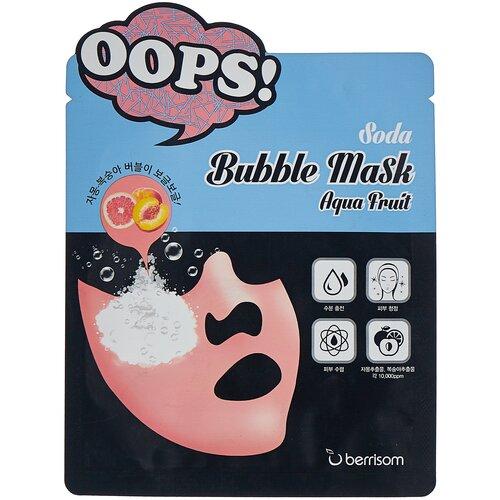 Купить Berrisom Тканевая пузырьковая маска Soda Bubble Mask Aqua Fruit, 18 мл