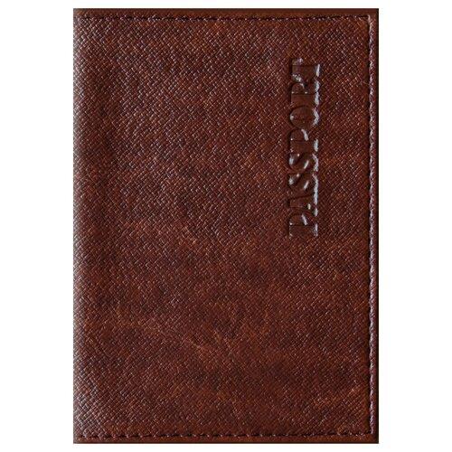 Обложка для паспорта OfficeSpace Бизнес, коричневый