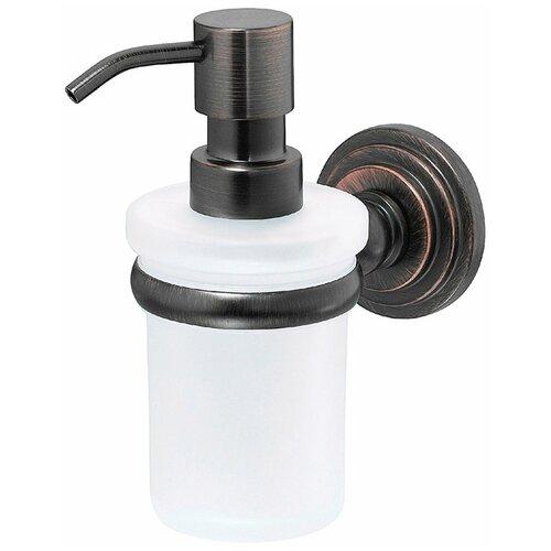 Дозатор для жидкого мыла WasserKRAFT Isar K-7399, белый/темная бронза дозатор для жидкого мыла wasserkraft isar k 7399 темная бронза
