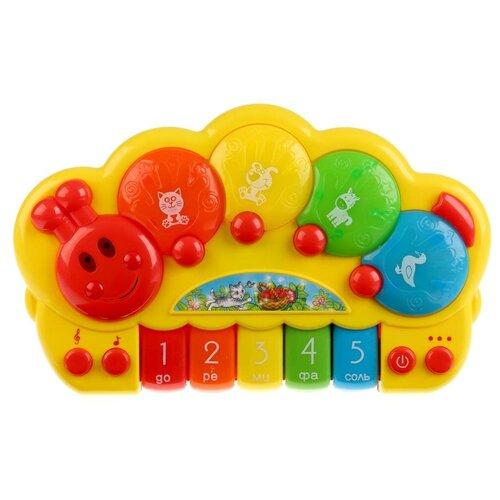 Фото - Умка пианино B1200706-R (24) желтый/красный игрушка для ванной умка бегемотик b1410463 r красный желтый зеленый