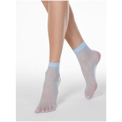 Капроновые носки Conte Elegant 16С-127СП, размер 23-25, light blue