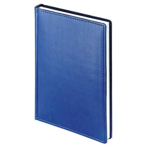 Купить Ежедневник недатированный Attache Velvet искусственная кожа A5 136 листов синий (145x205 мм) 1 шт., Ежедневники