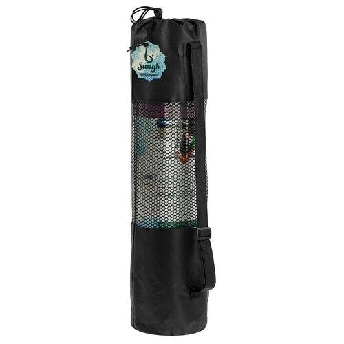 Чехол для йога-коврика 70 × 30 см (для коврика толщиной до 1 см), цвет чёрный