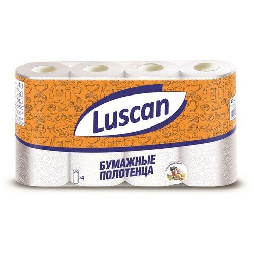Купить Полотенца бумажные LUSCAN 2-сл., с тиснением, 4рул./уп. 2 шт.