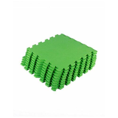 Мягкий пол универсальный Зеленый с кромками 30*30(см),9 деталей мягкий пол eco cover универсальный 30х30 см сад огород 9 деталей