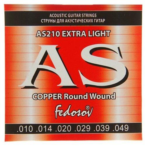 Струны COPPER Round Wound Extra Light ( .010-.049. 6-стр.. медная навивка на граненом керне) 1453104