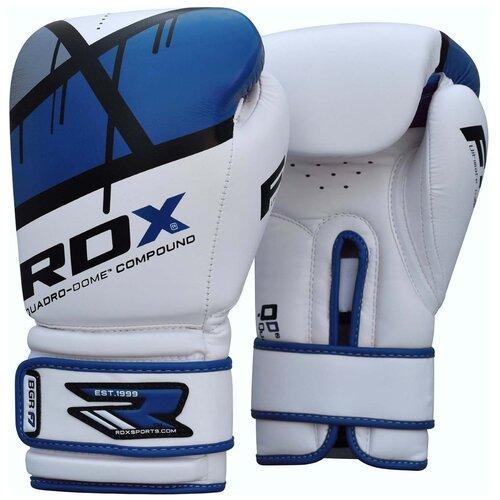 Перчатки боксерские RDX BOXING GLOVE BGR-F7 BLUE цвет синий размер 12oz