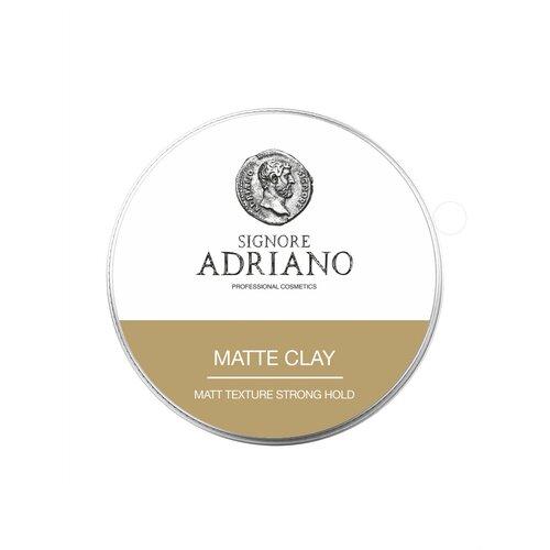 Купить Матовая глина Matte clay Strong SIGNORE ADRIANO сильной фиксации, для создания классических укладок, текстуры и объема 60г.