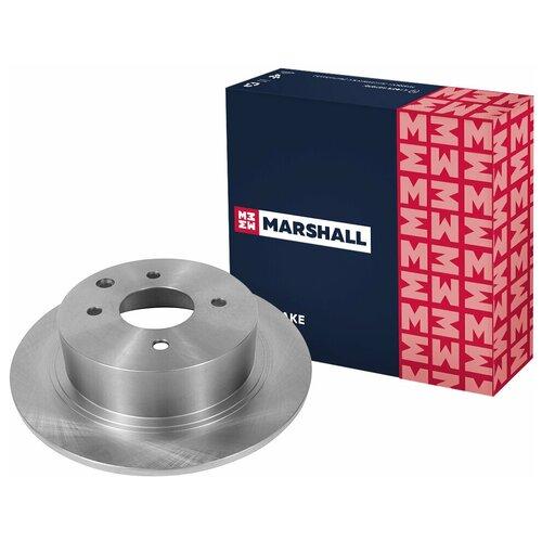 Тормозной диск задний MARSHALL M2000438 для Nissan Cube (Z12) 07-, Nissan Tiida (C11) 04- // кросс-номер TRW DF6317 // OEM 43206EM10A