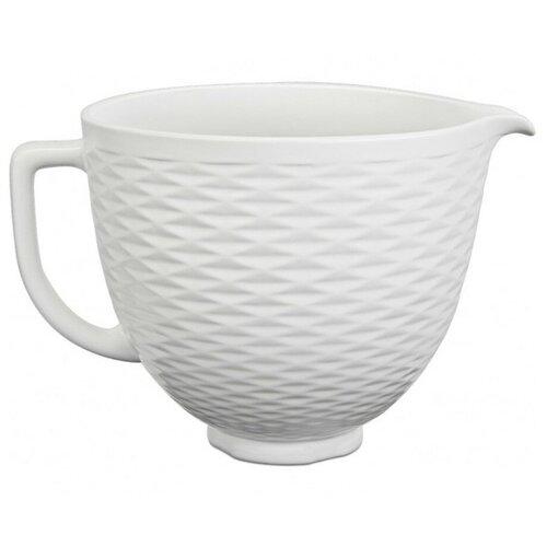 Фото - Чаша 4.7 л керамическая KitchenAid, тиснение, 5KSM2CB5TLW kitchenaid чаша для мороженого kitchenaid kica0wh