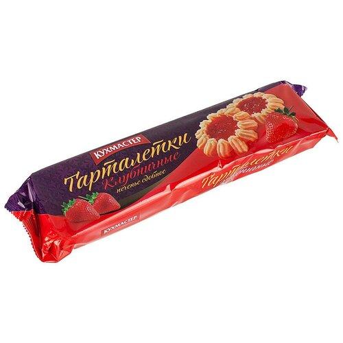 Фото - Печенье сдобное Кухмастер Тарталетки клубничные 240г 3 шт. кухмастер печенье сахарное шоколадное 170г кухмастер
