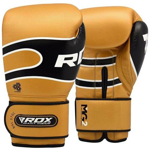 Перчатки боксерские RDX S7 BAZOOKA LEATHER BOXING SPARRING GLOVES золотой натуральная кожа цвет золотой размер 12oz