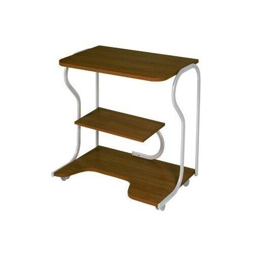 Письменные и компьютерные столы VENTAL Передвижной компьютерный стол Практик-4 темный орех