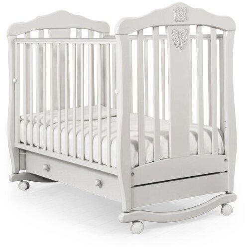 Фото - Кроватка Гандылян Доминик (качалка), на полозьях белый кроватка гандылян даниэль люкс колесо качалка на полозьях белая ночь