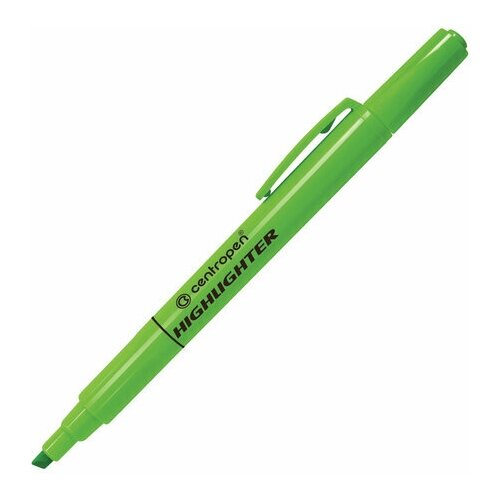Купить Маркер-текстовыделитель Centropen 8722 (1-4мм, зеленый) 4шт., 10 уп. (4 8722 9359), Маркеры