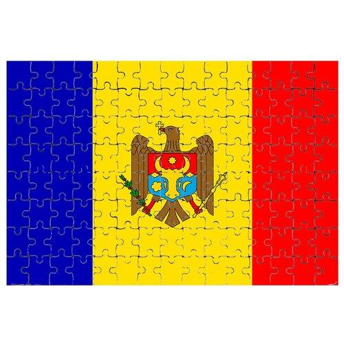 Магнитный пазл Флаг Молдовы