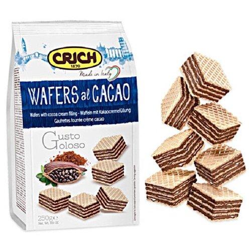 Вафли Crich Wafers с какао-кремовой начинкой, 250г