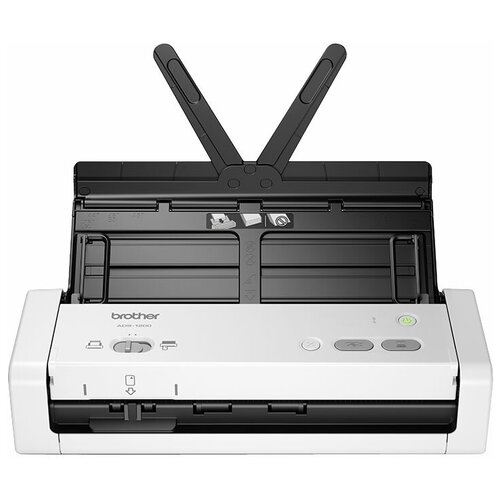 Сканер Brother ADS-1200 белый/черный сканер brother pds 5000