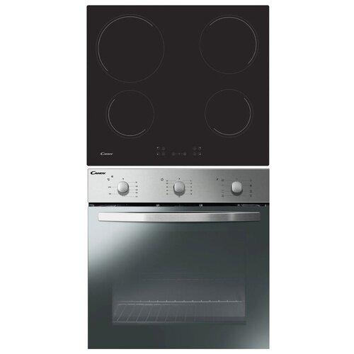 Комплект встраиваемой техники Candy FCP602X + ECH64CC серебристый/черный