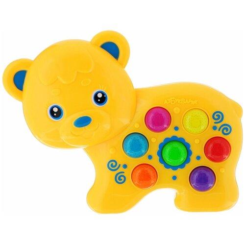 Купить Интерактивная развивающая игрушка Азбукварик Веселушки Мишка, желтый, Развивающие игрушки