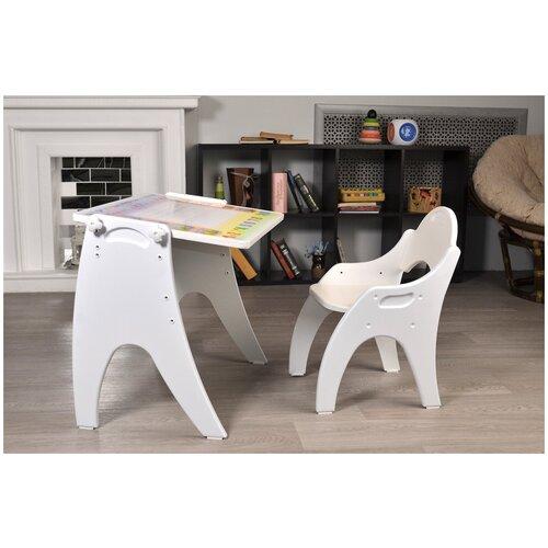 Набор детской мебели Тех Кидс Трансформер Буквы-Цифры Белый глянцевый
