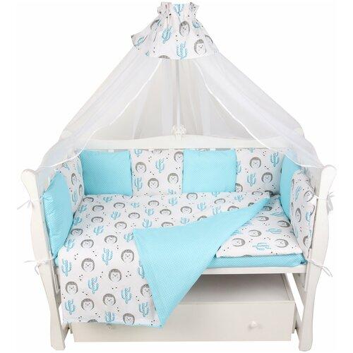 Купить Комплект Premium в кроватку 18 предметов (6+12 подушек-бортиков) AmaroBaby, Постельное белье и комплекты