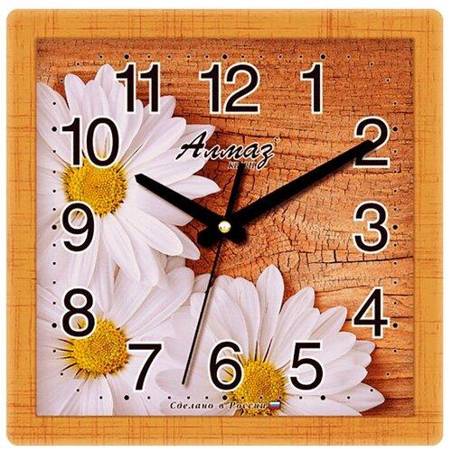 Фото - Часы настенные кварцевые Алмаз M49 коричневый/белый часы настенные кварцевые алмаз b97 коричневый бежевый
