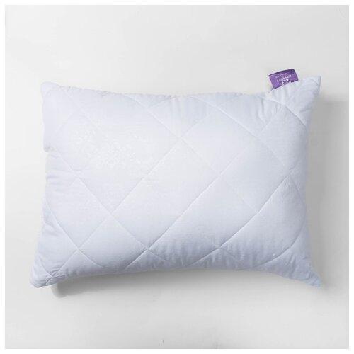 Подушка KUPU-KUPU Бамбук, высокая, 68*68 см, белый, бамбук, силиконизированное волокно, микрофибра, полиэстер 100%
