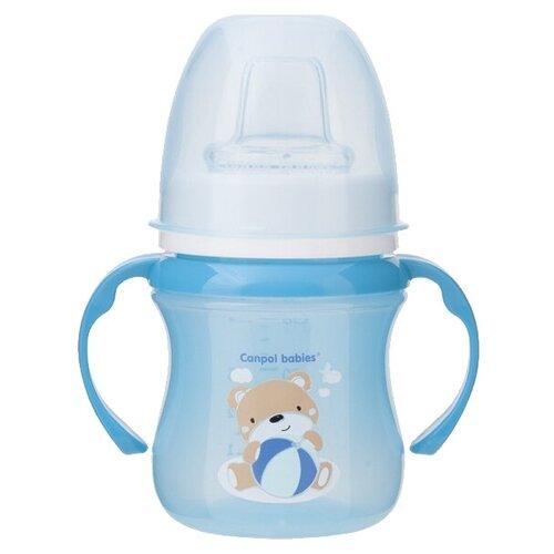Фото - Поильник-непроливайка Canpol Babies 35/207, 120 мл голубой/мишка поильник непроливайка canpol babies 4 113 360 мл зеленый