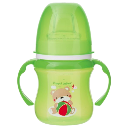 Фото - Поильник-непроливайка Canpol Babies 35/207, 120 мл зеленый/мишка поильник непроливайка canpol babies 31 404 250 мл фиолетовый
