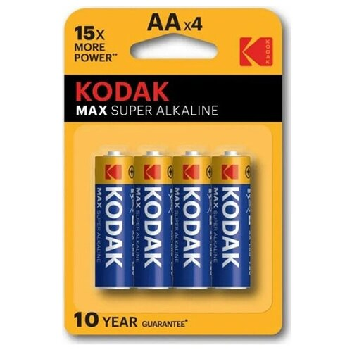 Фото - Батарейка щелочная Kodak AA 4шт kodak батарейка kodak super heavy duty r6 bl4 4шт