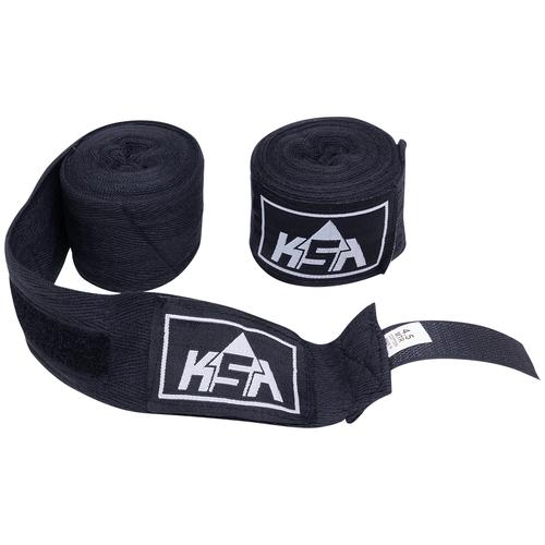 Бинт боксерский Ksa Stalker Black, хлопок, 4.5 м