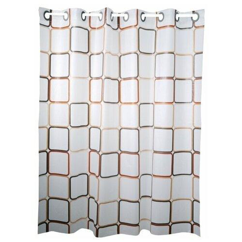 Фото - Штора для ванной My Space EV180180002 180x180 белый коврик для ванной my space mm5080005 800х500мм микрофибра