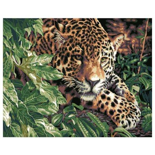 Paintboy Картина по номерам Леопард в джунглях 40х50 см (GX6833) картина по номерам 40х50 см леопард в лесу gx8340