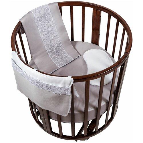 спальные конверты chepe нежность Комплект в люльку Chepe for Nuovita Tenerezza / Нежность 3 предмета (бело-серый)