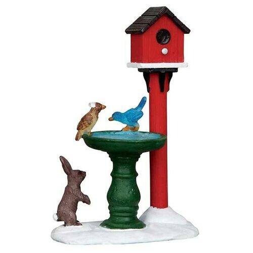 Фигурка LEMAX композиция Фонтанчик для птиц 8 х 6 х 4 см красный/зеленый